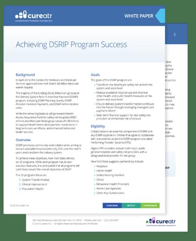 Achieving DSRIP Program Success White Paper